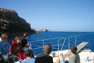 a bordo del barco a cabrera (fast tour)