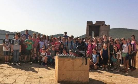 colegio visitando la isla de cabrera