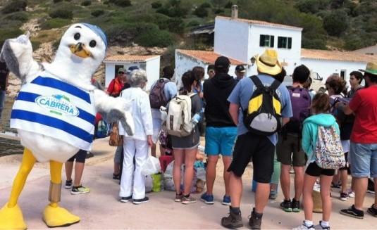 grupo educativo visitando cabrera