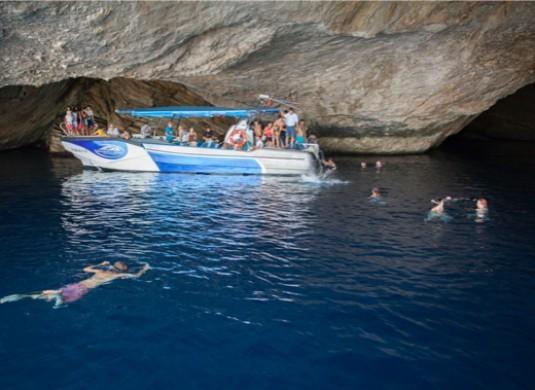 Schnorcheln in der blauen Grotte
