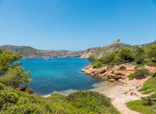 playa tranquila isla de cabrera